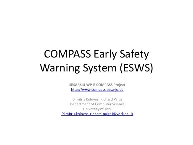 COMPASS Early Safety Warning System (ESWS)