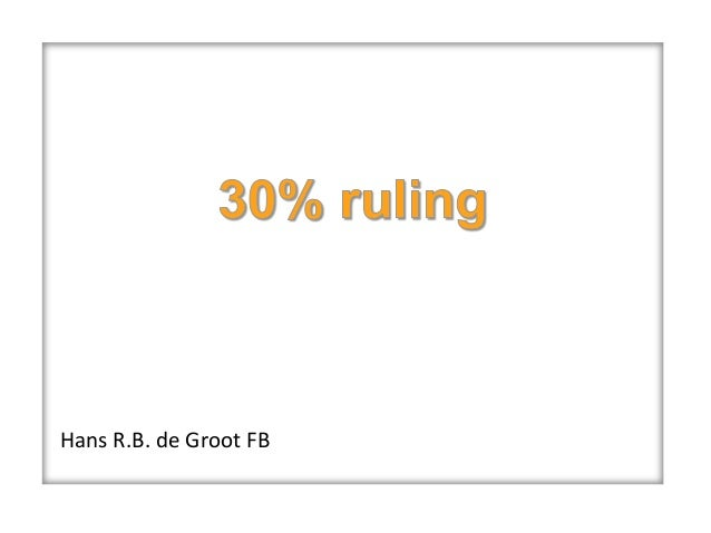 Expat Services WorldWide, Hans de Groot: 30% ruling