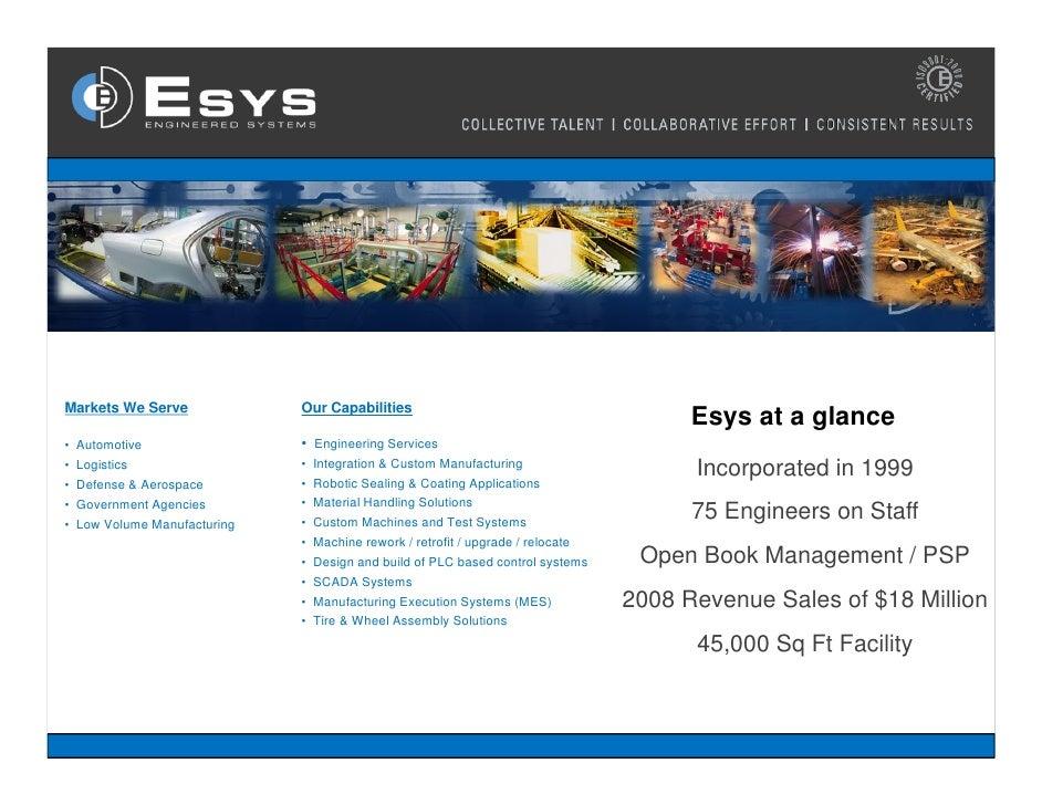 Esys Capabilities 2009 English