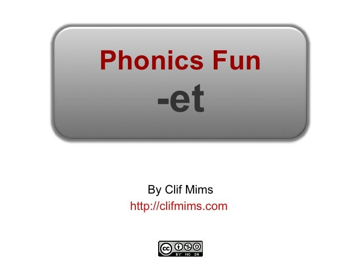 Phonics Fun: -et