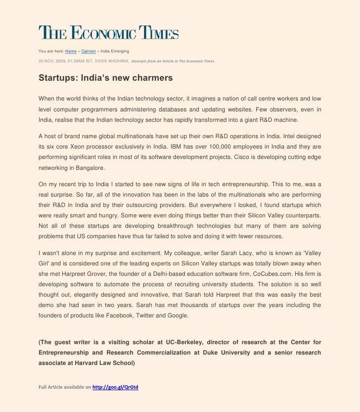 CoCubes.com on the Economic Times
