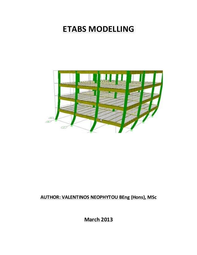 Etabs modelling parameters