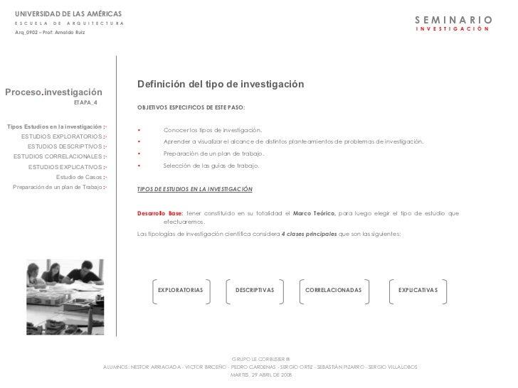 Etapa 4 - tipos de investigacion
