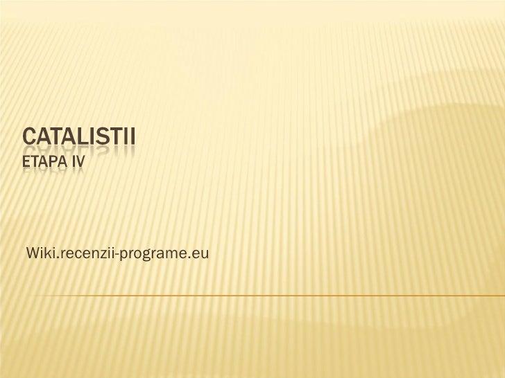 Wiki.recenzii-programe.eu