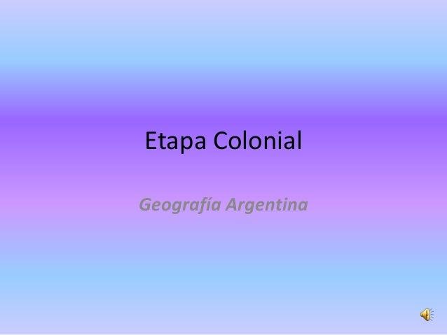 Organización política territorial argentina: Etapa colonial