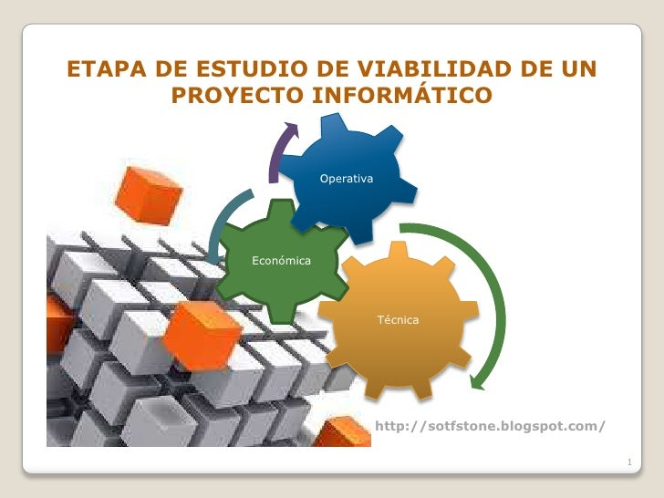 ETAPA DE ESTUDIO DE VIABILIDAD DE UN       PROYECTO INFORMÁTICO                        Operativa            Económica     ...