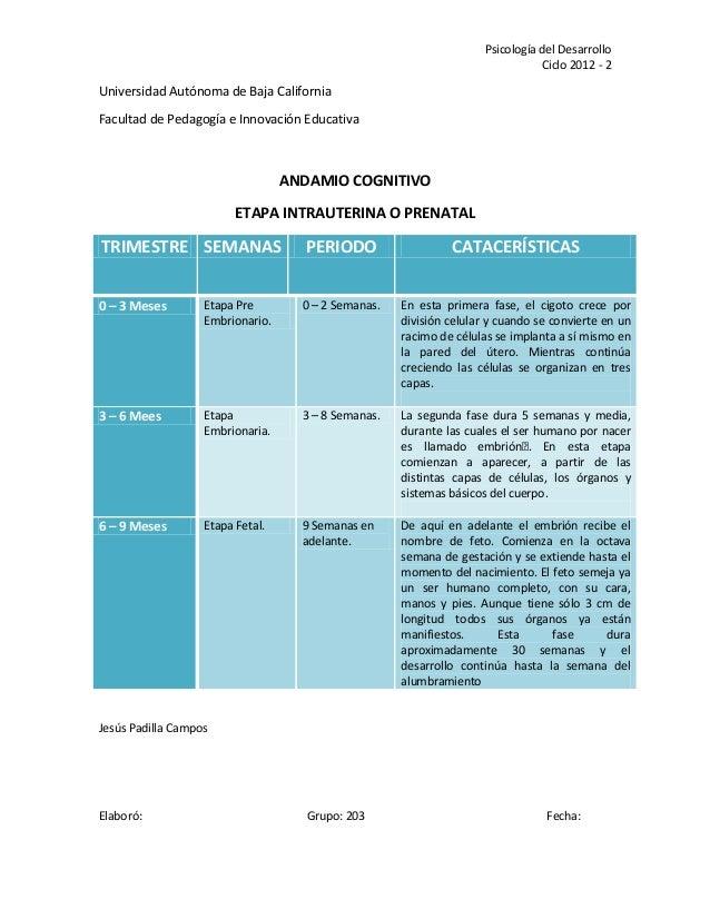Psicología del Desarrollo                                                                                Ciclo 2012 - 2Uni...