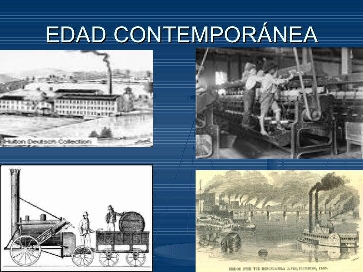 Etapas de la historia for Caracteristicas de la contemporanea