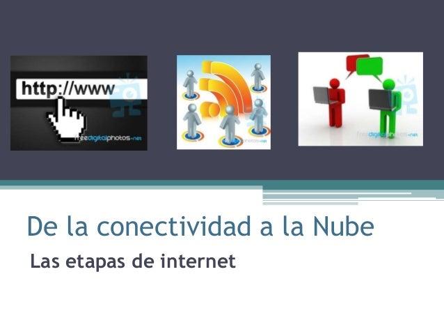 De la conectividad a la Nube Las etapas de internet