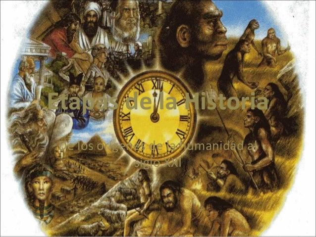 Etapas de la Historia De los orígenes de la humanidad al siglo XXI