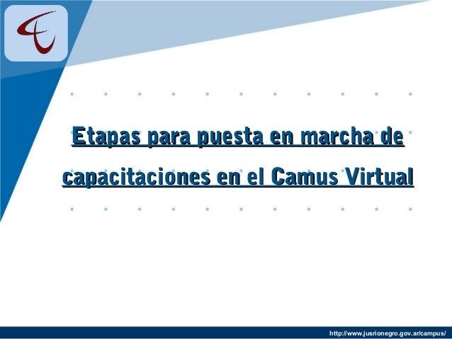 http://www.jusrionegro.gov.ar/campus/ Etapas para puesta en marcha deEtapas para puesta en marcha de capacitaciones en el ...