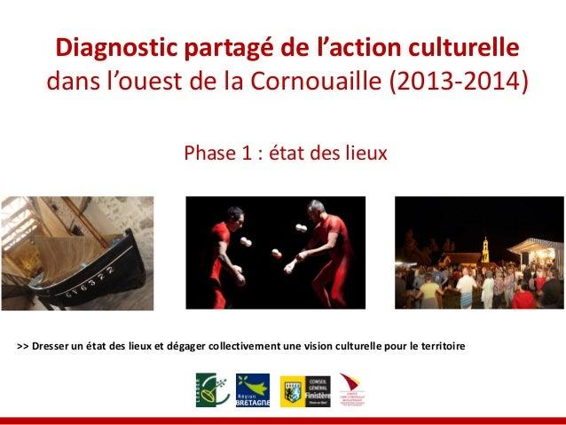 Diagnostic partagé de l'action culturelle dans l'ouest de la Cornouaille (2013-2014)  >> Dresser un état des lieux et déga...