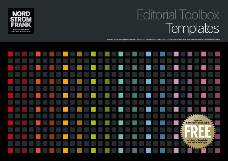 Editorial Toolbox                                                Templates Freeware for newspapers printed and online edit...