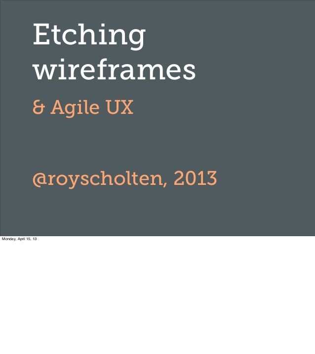 Frontend United: Etching wireframes & agile UX