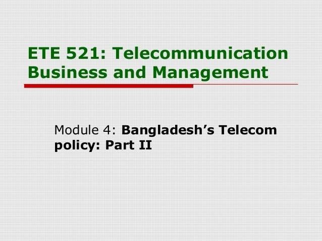 BD Telecom Policy (ETE 521 L4)