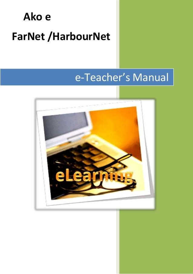 Ako eFarNet /HarbourNete-Teacher's Manual
