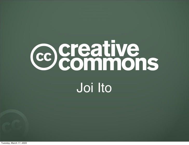 Joi ETech 2009 - Creative Commons