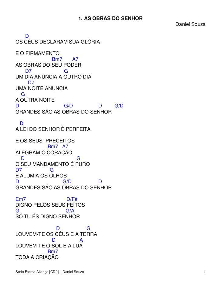 1. AS OBRAS DO SENHOR                                                             Daniel Souza   DOS CÉUS DECLARAM SUA GLÓ...