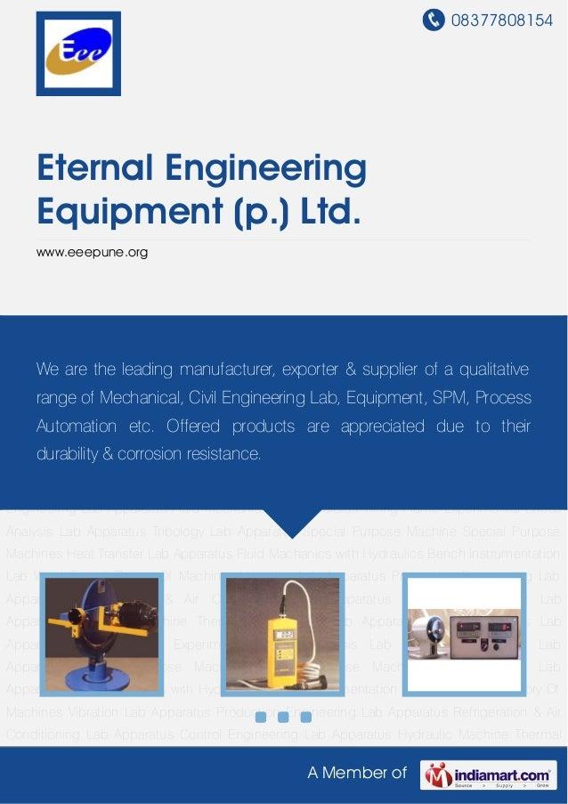08377808154 A Member of Eternal Engineering Equipment (p.) Ltd. www.eeepune.org Theory Of Machines Vibration Lab Apparatus...