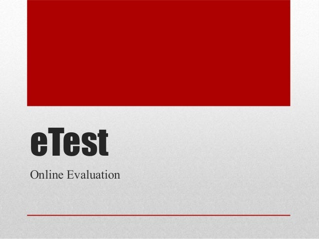 eTestOnline Evaluation