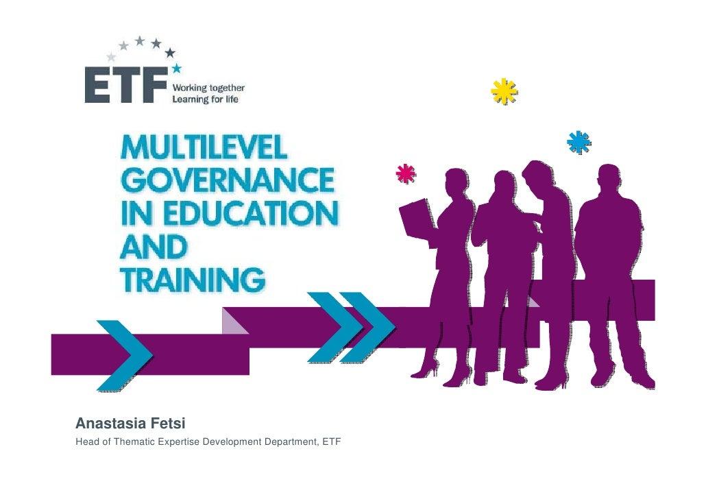 Presentation of Anastasia Fetsi: the ETF and Multilevel Governance