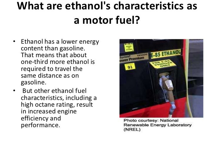 ethanol as a transportation fuel essays