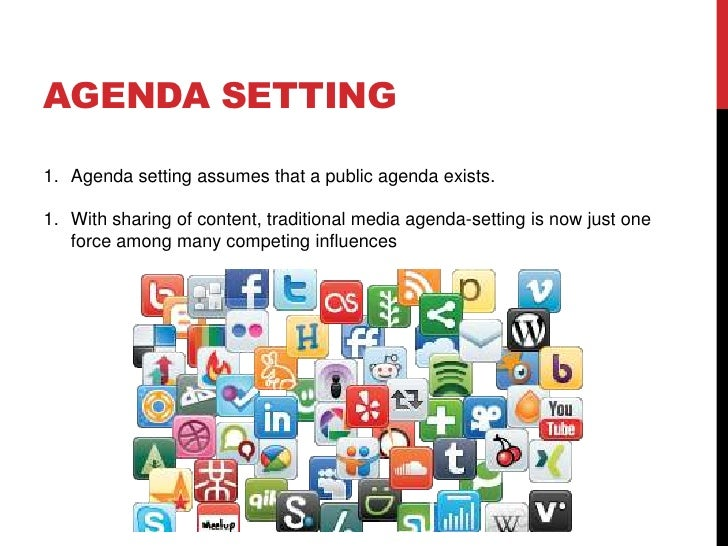 What is agenda setting theory