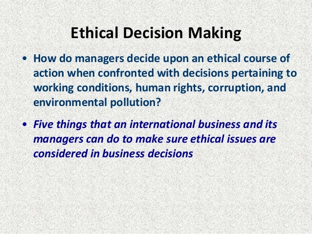 ethical issues in international business essays