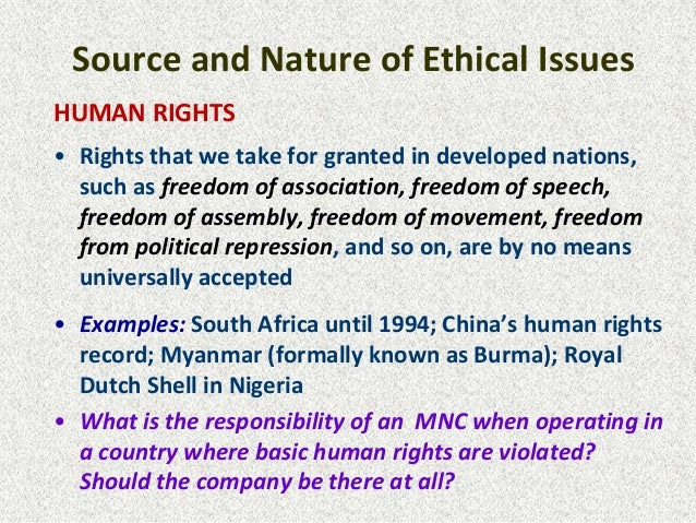 Someone can tell me some business cases about ethical problems in South Africa?