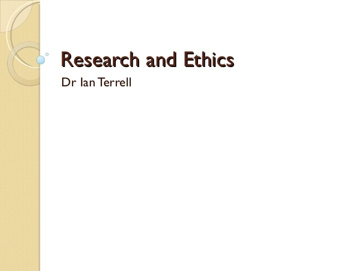 Ethical issues