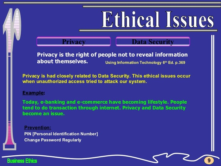 Ethical Issues in Information System Essay Sample