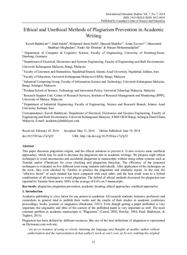 International Education Studies; Vol. 7, No. 7; 2014 ISSN 1913-9020 E-ISSN 1913-9039 Published by Canadian Center of Scien...