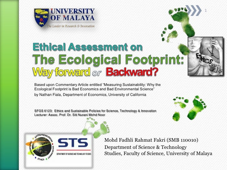 Ethical Assessment on Ecological Footprint 2012