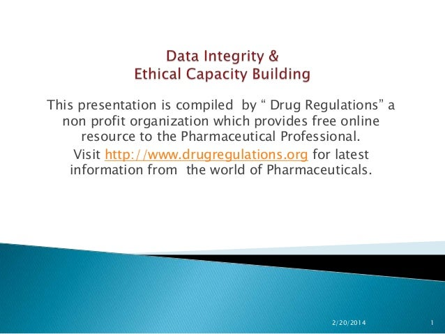 Data Integrity & Ethical Capacity Building