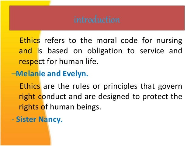 Can somebody define what 'Ethical Obligations' are?
