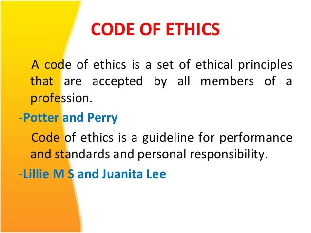 nursing ethics law and professional code Nursing ethics: a look at the code of ethics by: raymond lengel, fnp, msn, rn purpose: the purpose nursing ethics continuing education course is to provide an.