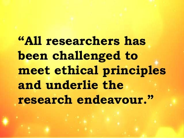 ethical considerations in business research