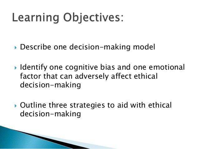factors affecting cognitive decision making essay