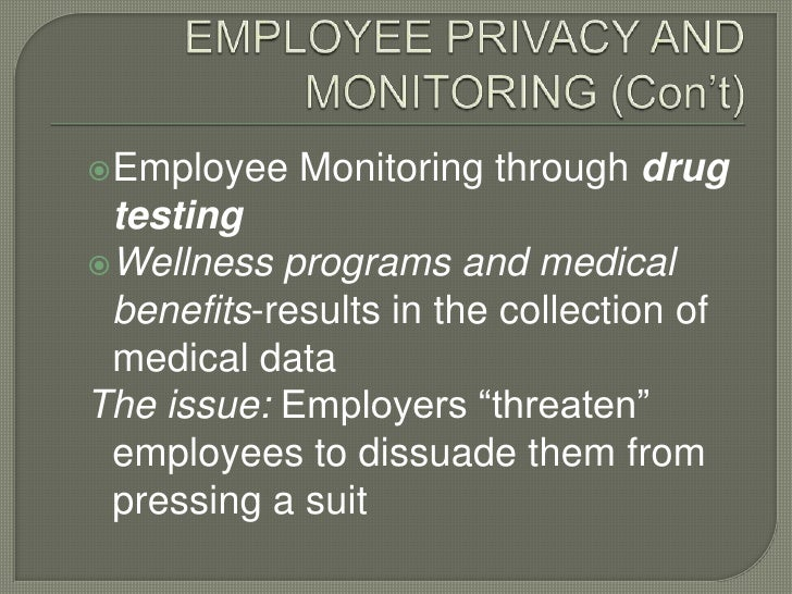 """the increasing issues of the ethics of drug testing for many companies """"given the large statutory damages at issue drug testing and verification many companies will add social media investigations to their background."""