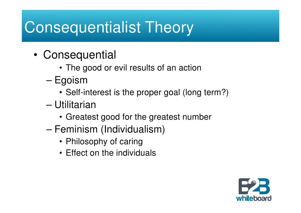 deontological vs utilitarian ethics Normative ethics is the same as descriptive ethics  a deontologist likely would  be more concerned about the intention behind an act than a  d utilitarianism.