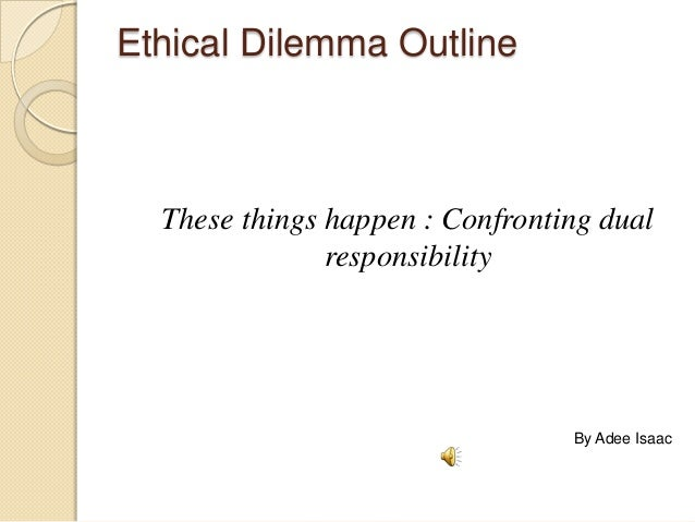 Ethical dilemma paper topics