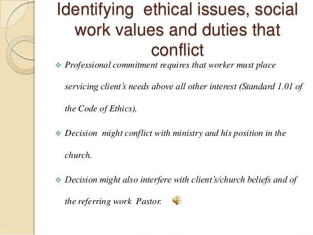 a description of an ethical dilemma