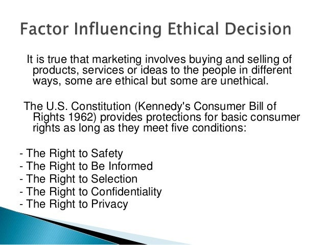 the ethical issues of marketers A look at the issue surrounding pharmaceutical advertising and its effect on physicians and their willingness to prescribe new marketing at work e haavi morreim is professor of human values and ethics at the college of medicine.