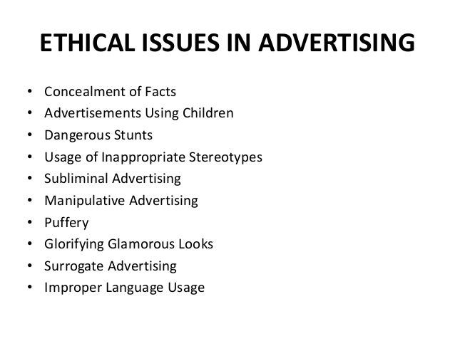 "ethical issues in advertising towards children In bruce watson's ""the tricky business of advertising to children,"" the writer   therefore, from a utilitarian perspective, kidvertising seems ethical because   should approach the issue of kidvertising because that would imply."