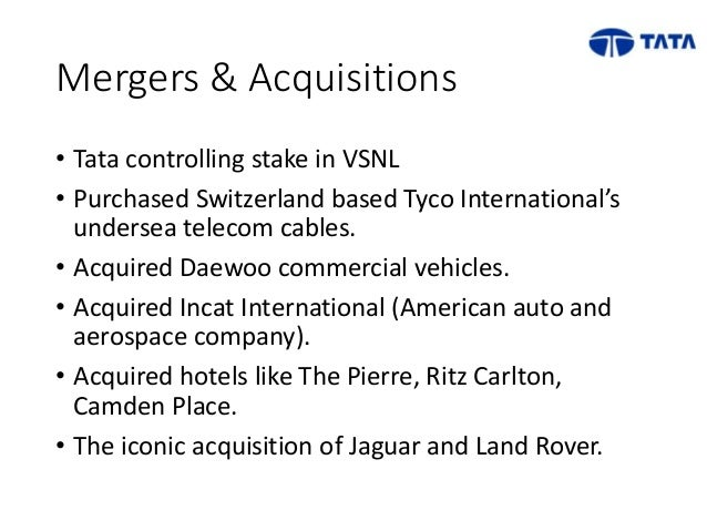 impact of mergers and acquisitions on the tata group These studies examine the key motive drivers and evaluate the impact of mergers and acquisition group structure of tata impact of merger and acquisition.