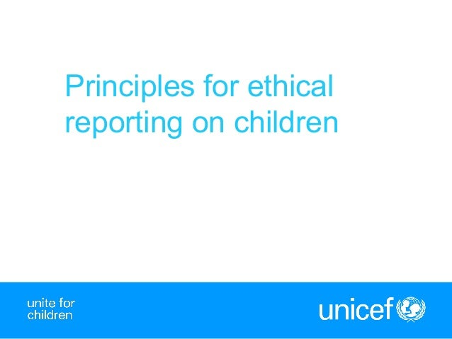 1Principles for ethicalreporting on children