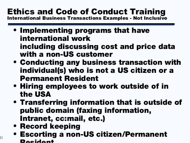 ethics and contracting
