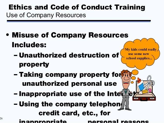 Misuse Of Company Property