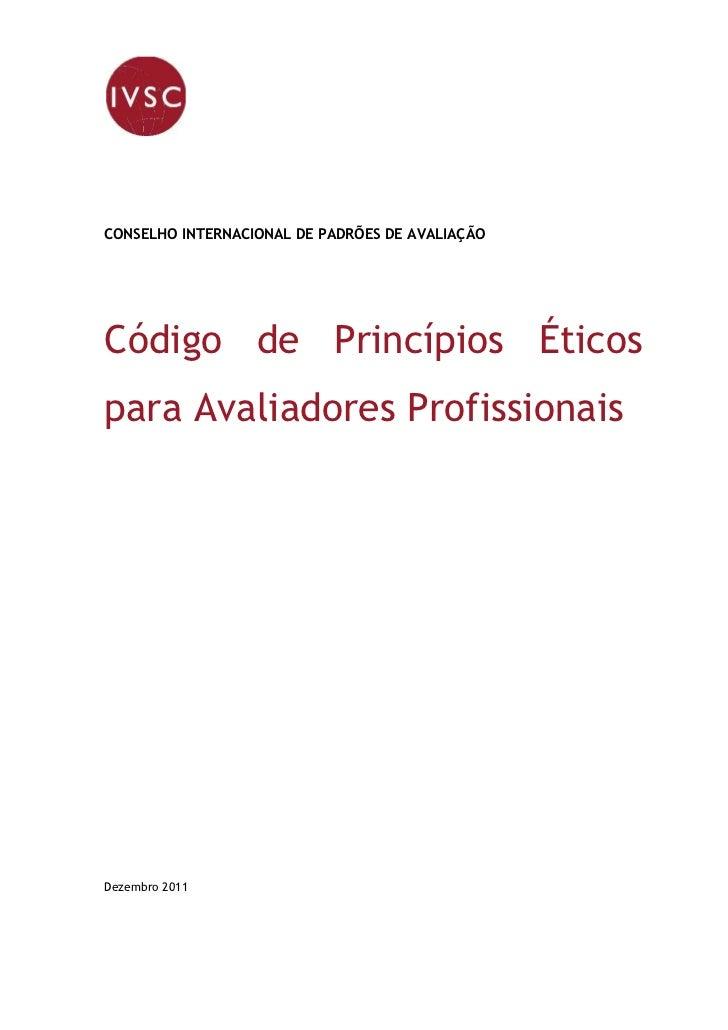 Princípios do Código de Ética em Português - Revisado