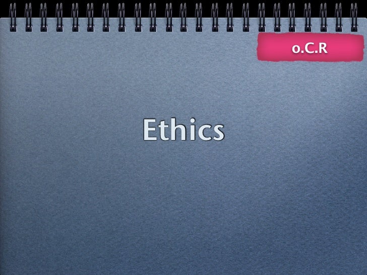 Ethics AS OCR